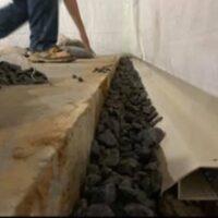 Interior basement waterproofing by The Waterproof Group